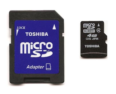 micro SD 4 GB Toshiba, HIGH Speed